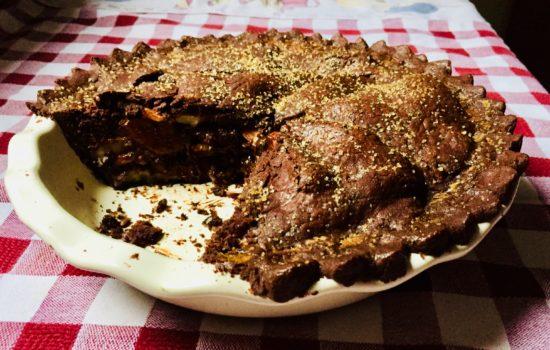 Pie alle pere, mandorle e cioccolato