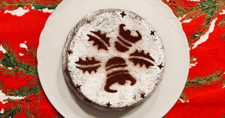 Torta di Natale: Caprese al cioccolato