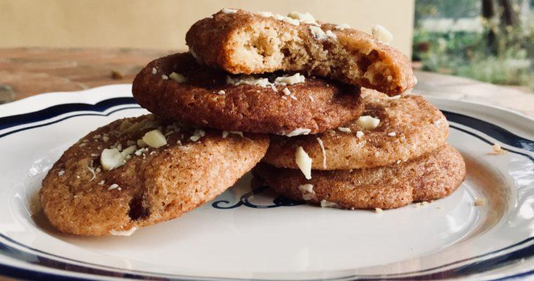 Cookies al cioccolato bianco e spezie chai – White chocolate chai snickerdoodles