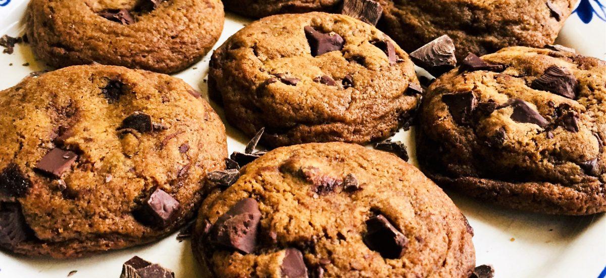 Cookies con le gocce di cioccolato