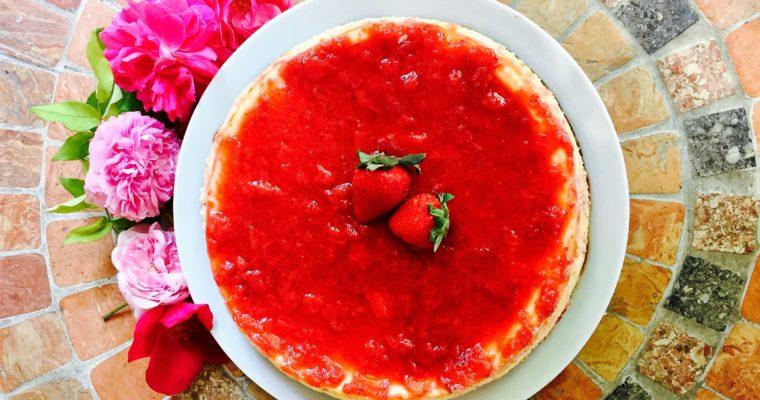 NY Cheesecake, fragole e prosecco
