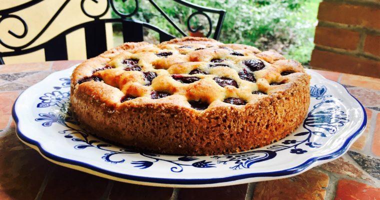 Torta alle ciliegie e mandorle