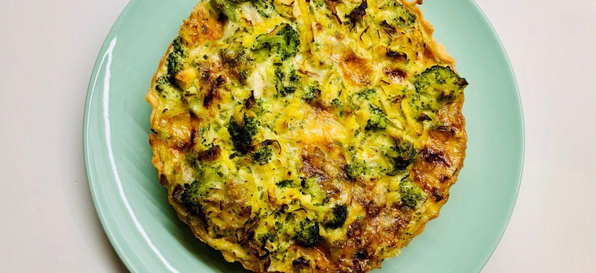 Quiche ai broccoli e gorgonzola